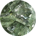 Rough stones of prasiolite